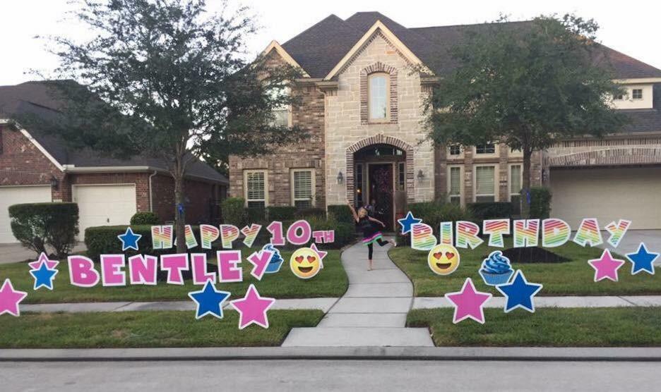 Bentley birthday yard signs